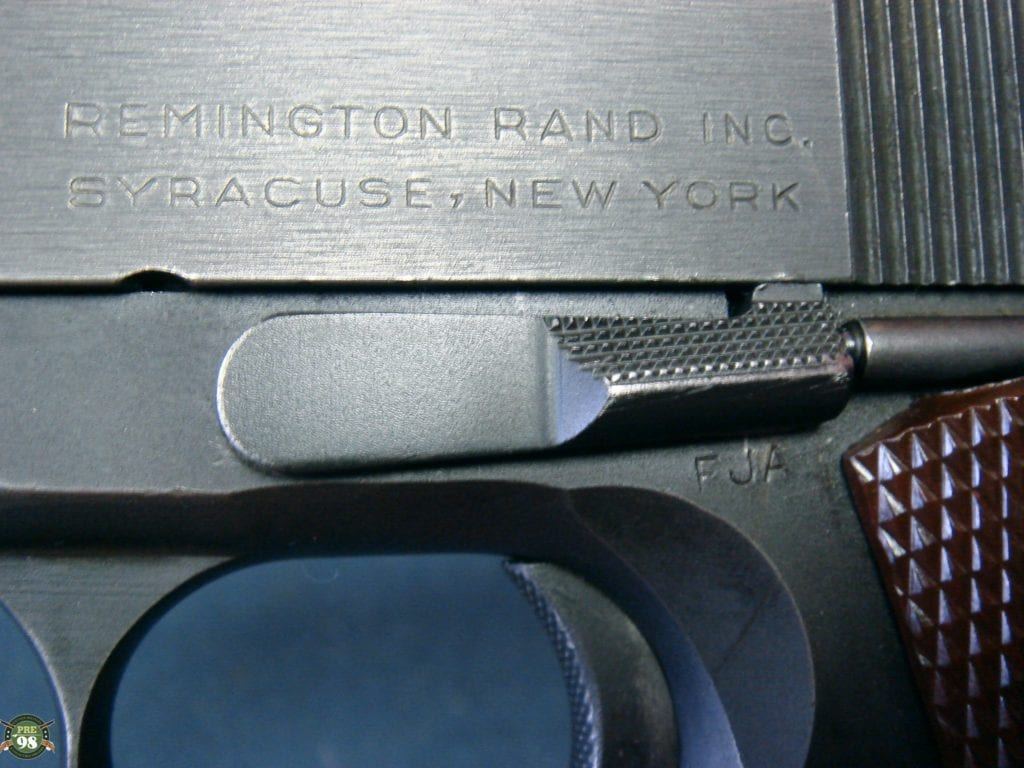 SOLD VERY IMPORTANT 1ST MONTH PRODUCTION (Nov,1942) REMINGTON RAND 1911A1  PISTOL         202ND GUN OFF OF THE ASSEMBLY LINE!