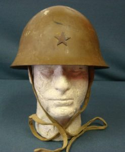 SOLD ORIGINAL VERY SHARP JAPANESE TYPE 90 WW2 HELMET 1943