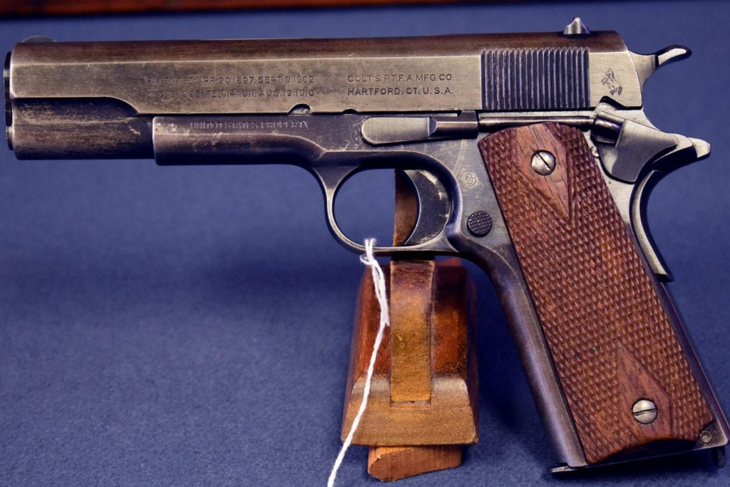 US WW1 COLT 1911 US ARMY PISTOL      SHIPPED FEB, 1918       BRUSHED  BLUE      NICE ALL ORIGINAL EXAMPLE